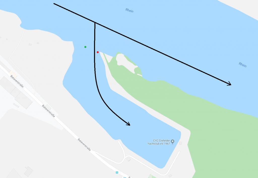 Skizze Hafeneinfahrt