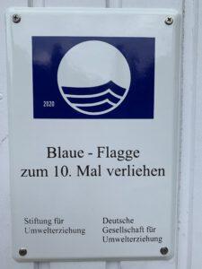 Blaue Flagge 10.mal
